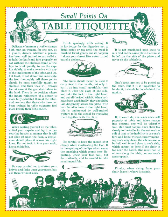 Small Points on Table Etiquette